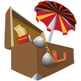 Ready for vacation (icon) Royalty Free Stock Image