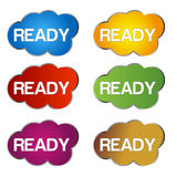 Ready vector icon isolated on white background Royalty Free Stock Photography