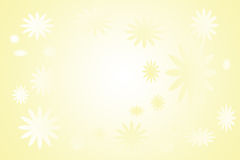 Ready yellow card with flowers Royalty Free Stock Image