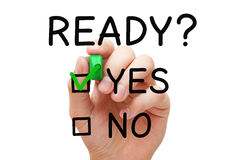 Ready Yes Or No Check Mark Concept stock illustration