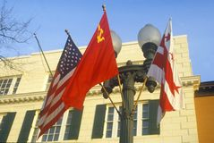 Reagan-Gorbachev Summit in Washington, D.C. Royalty Free Stock Images