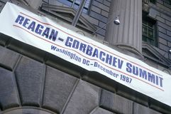 Reagan-Gorbachev Summit in Washington DC Royalty Free Stock Image