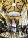 Reagan international airport. Fashion and beautiful place to fly out Royalty Free Stock Images