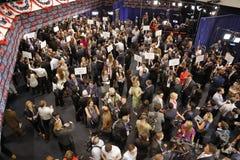 REAGAN PRESIDENTIAL LIBRARY, SIMI VALLEY, LA, CA - SEPTEMBER 16, 2015, Media filing room during the Republican presidential debate Stock Image