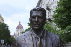 Reagan statue in Budapest Royalty Free Stock Image