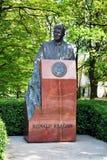 Reagan statue in Warsaw. Ronald Wilson Reagan (/ˈrɒnəld ˈwɪlsən ˈreɪɡən/; February 6, 1911 – June 5, 2004) was an American politician and actor, who royalty free stock images