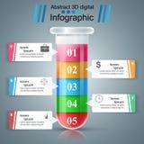 Reageerbuis experimenten Zaken Infographics Royalty-vrije Stock Afbeeldingen