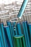 Reageerbuizen in het Laboratorium van de Wetenschap royalty-vrije stock foto