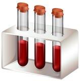 Reageerbuizen met bloedmonsters vector illustratie