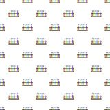 Reageerbuizen op de naadloze vector van het tribunepatroon stock illustratie