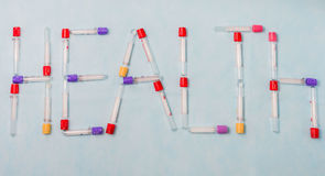 Reagenzgläser für Labordiagnose, für Blutproben Stockfotos