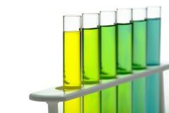 Reagenzgläser im Wissenschafts-Forschungs-Labor Stockbilder