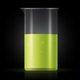 Reagenzglas auf schwarzem Hintergrund Stockfoto
