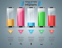 Reagenzglas experimente Geschäft Infographics Stockfotos