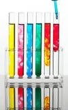 Reagenzglas für die Prüfung in einem chemischen Labor Stockfotos