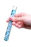 Reagenzglas mit Startwerten für Zufallsgenerator Lizenzfreies Stockfoto