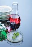 Reagenzglas und Retorte lizenzfreies stockfoto