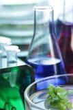Reagenzglas und Retorte stockbilder