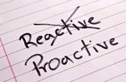 Reagierendes und proaktives Konzept Lizenzfreie Stockfotos