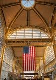 Reagan National US flag terminal Royalty Free Stock Image