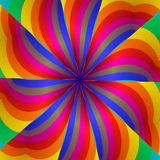 Reainbos kaleidoscope. Abstract fractal image resembling a rainbow kaleidoscope Stock Photos