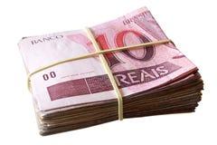 10 reais - бразильские деньги Стоковые Фото