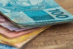 Reais денег Бразилии/концепция дела Стоковые Фото