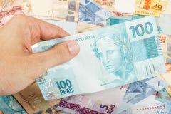 100 reais Стоковое Изображение