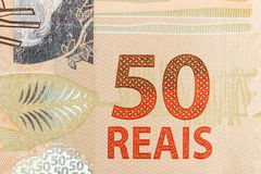 50 reais räkning Arkivbild