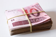 10 reais soldi brasiliani Fotografie Stock