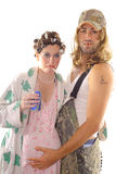 Reaktionäre Hinterwäldler-Hinterwäldler-Paare Stockfotografie