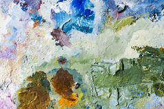 Real Abstract Color Oil Paint As Background Royalty Free Stock Image