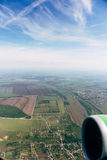 Real aerial view from air plane window royalty free stock photography