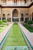 Real Alcazar de Sevilla. Patio de las Doncellas Royalty Free Stock Image