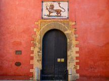 Real Alcazar fortress in Sevilla royalty free stock photography