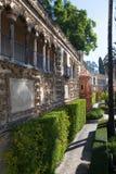 Real Alcazar Gardens in Seville. Royalty Free Stock Photos