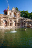 Real Alcazar Gardens in Seville. Royalty Free Stock Photo