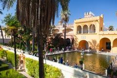 Real Alcazar Gardens in Seville. Stock Images