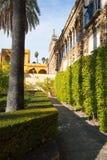 Real Alcazar Gardens in Seville. Stock Photo