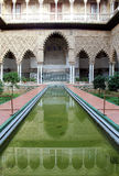Real Alcazar Moorish Palace in Seville. Water feature at the Real Alcazar Moorish Palace in Seville, Spain Stock Images