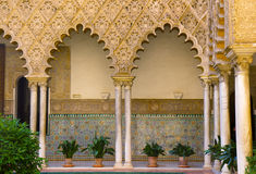 Real Alcazar (royal palace), Sevilla, Spain. Real Alcazar (royal palace), patio del Crucero, Sevilla, Spain royalty free stock photo