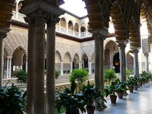 Real Alcazar in Seville Royalty Free Stock Photography