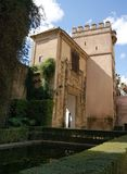 Real Alcazar of Seville gardens Stock Photos