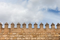 Real Alcazar Wall in Seville Royalty Free Stock Photography