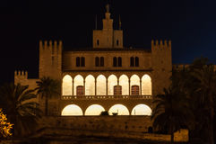 Real Almudaina Palace in Palma de Mallorca, Balearic Islands, Sp Royalty Free Stock Photography
