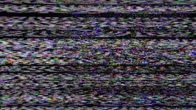 Real Analog TV Noize. There is no signal, the TV reception is poor. Low signal level from analog antenna. Noise on the liquid-crystal screen, plasma television stock video footage