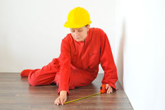 Real architect doing home renovation Royalty Free Stock Photos