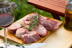 Real argentine sirloin steaks Stock Photos