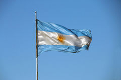 Real Argentinian flag Stock Photo