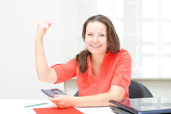 Real attractive businesswoman Royalty Free Stock Photos
